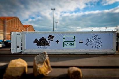 conteneur champignonnière UpCycle, compostage
