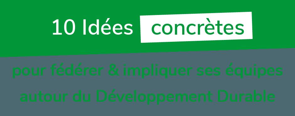 10 ides concrètes de développement durable avec UpCycle