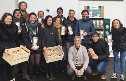 Equipe UpCycle et la boîte à champignons