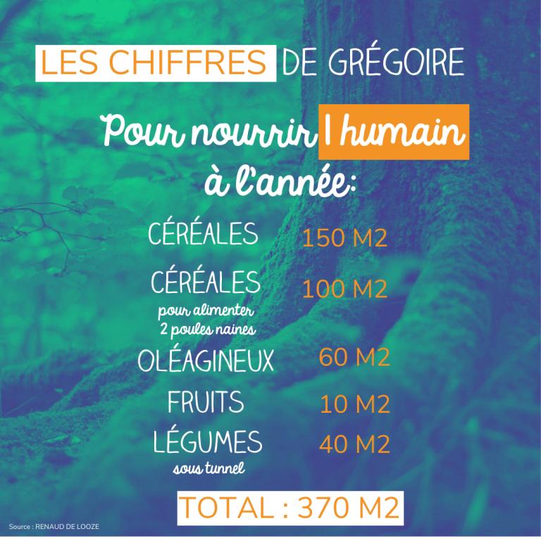 Combien de terrain pour nourrir un humain par an