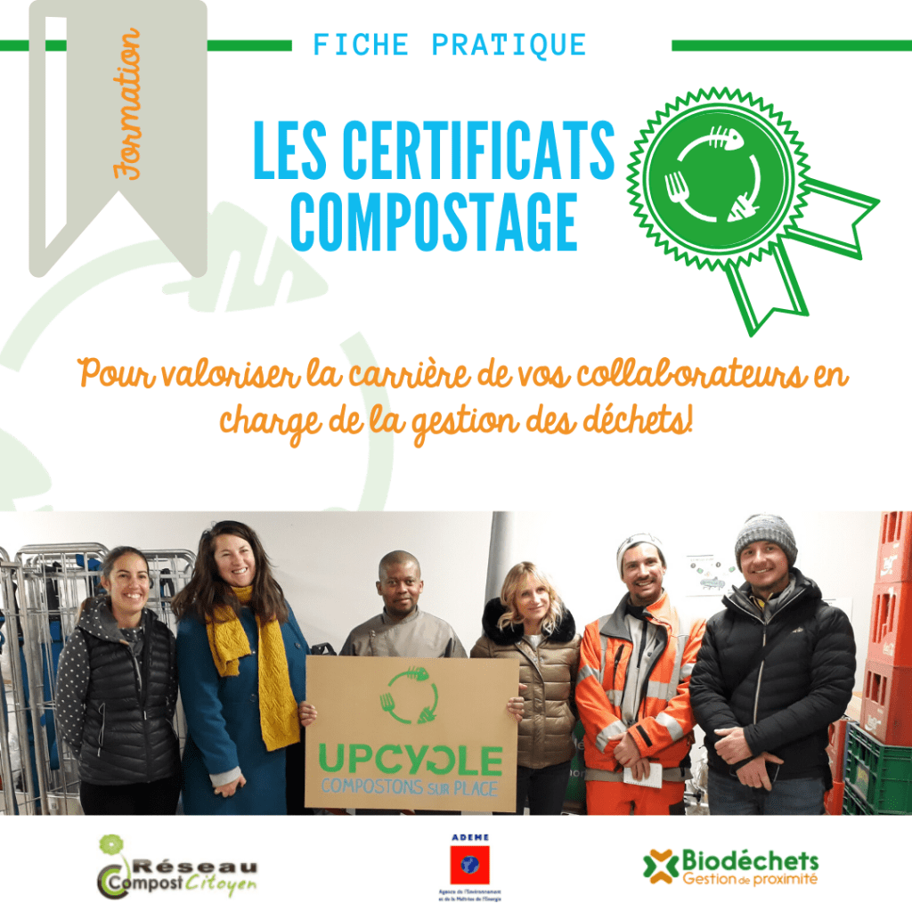 Certificats compostage par UpCycle