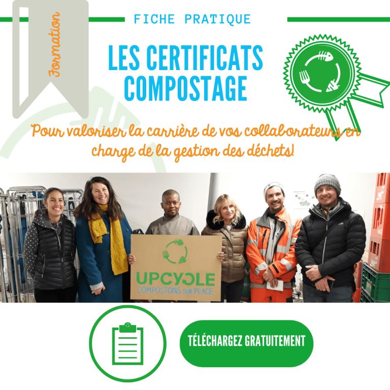 Certificats compostage par UpCycle fiche à télécharger