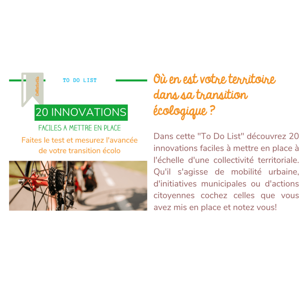 TO DO LIST-20 innovation transition ecologique collectivites-
