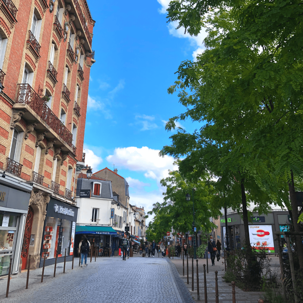 Ville du 1_4 d'heure-rue pietonne-region parisienne