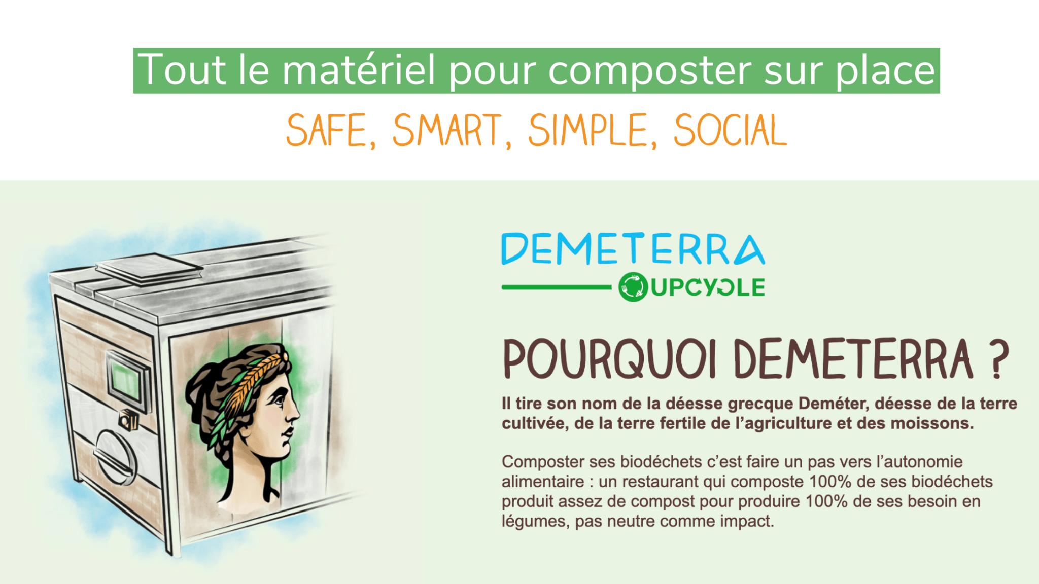 La gamme Demeterra composter sur place | UpCycle