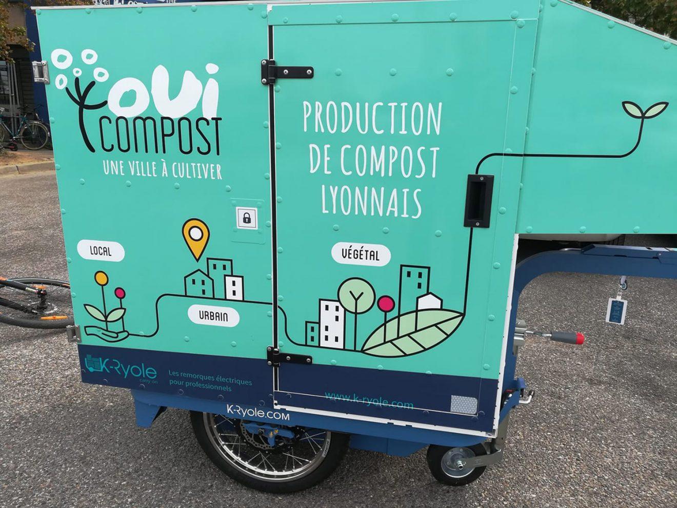 Oui Compost collecte àvelo des biodechets avant compostage UpCycle