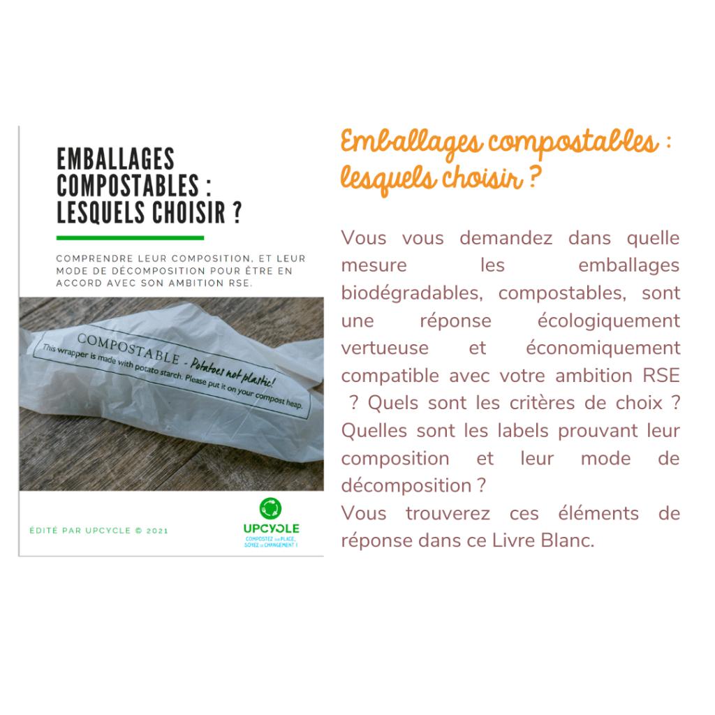 Livre Blanc emballages compostables lesquels choisir | UpCycle 2021©