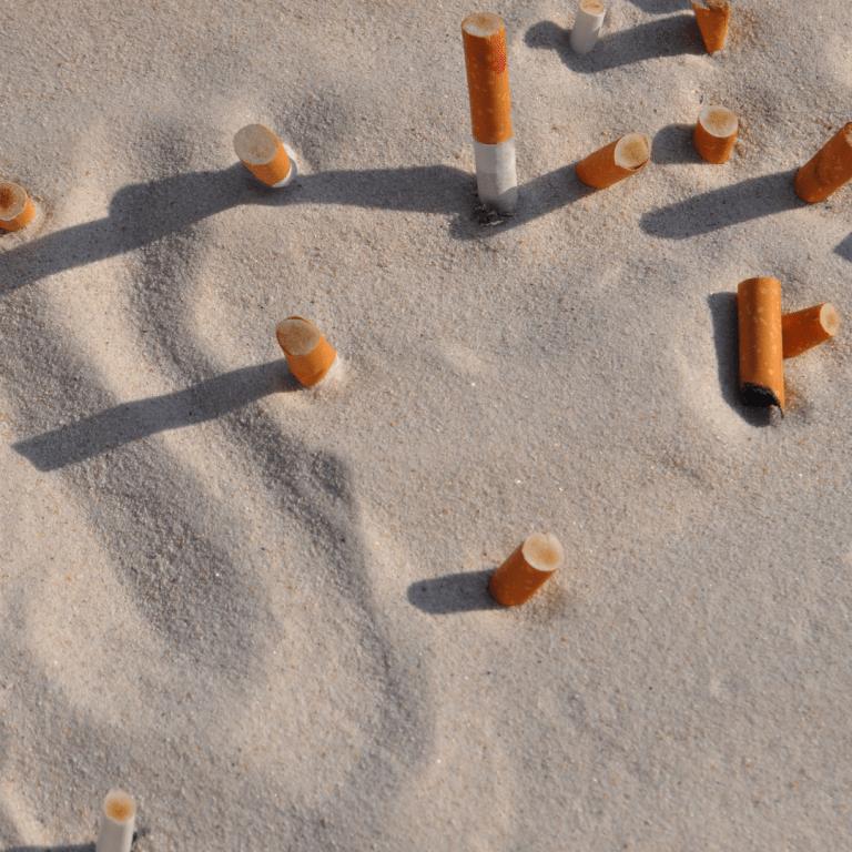 composter le tabac des mégots de cigarettes | UpCycle-pollution plage