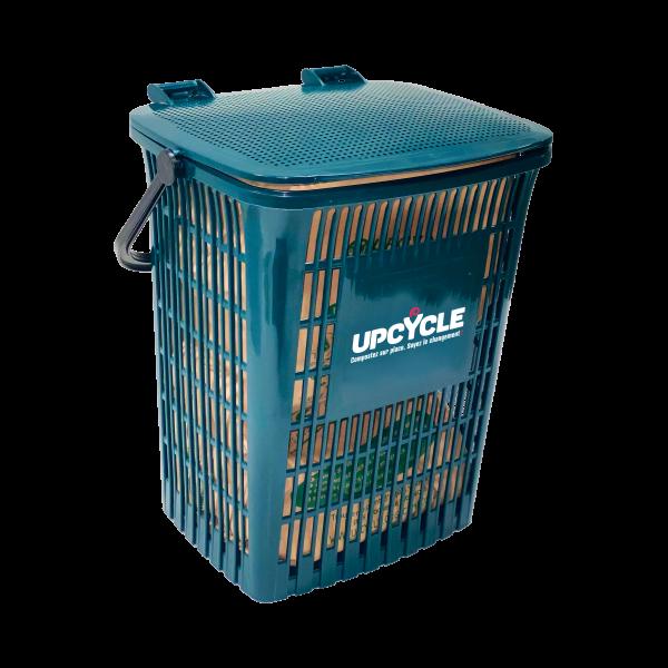 BIOSEAU 10L ajoure upcycle pour eviter moucherons et mauvaises odeurs tri dechets alimentaires