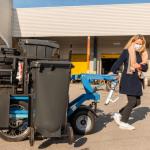 Remorque électrique de collecte biodéchets upcycle