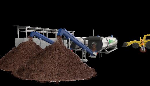 Systme brome de compostage en plateforme